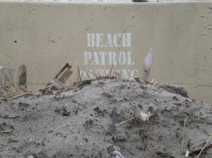 Sand covered everything in Long Beach after Hurricane Sandy