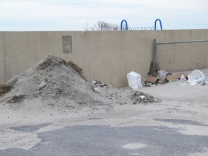 Trash still lingers in Long Beach after Hurricane Sandy. Photo Neptune Marketing.