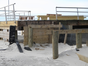 The boardwalk in Long Beach was torn apart by Sandy.