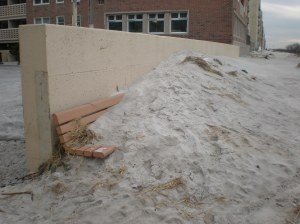 The beach behind our apartment building after Sandy.