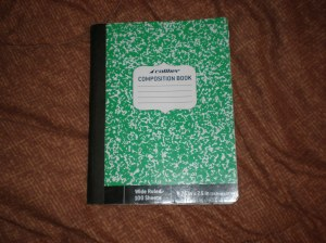 The journal which was used before, during and after Hurricane Sandy.