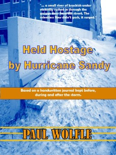 'Held Hostage By Hurricane Sandy' cover photo.